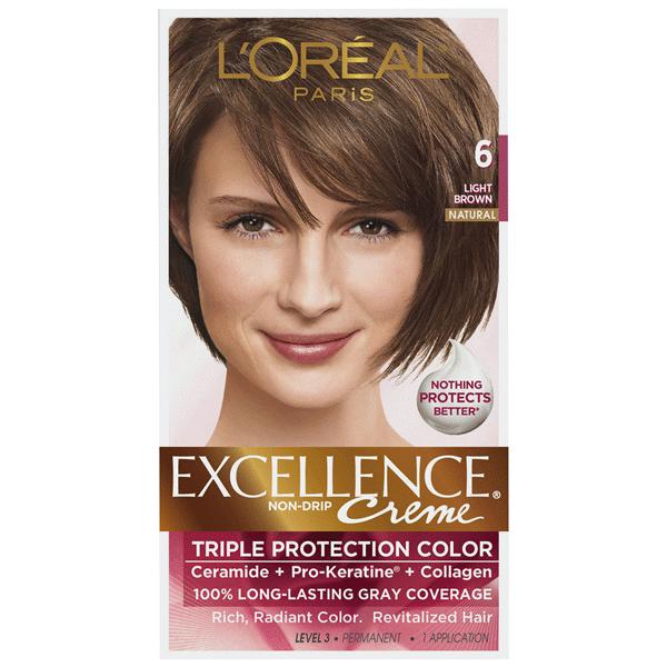 Loreal Paris Excellence Non Drip Creme 6 Light Brown 1 Kit Meijer Com