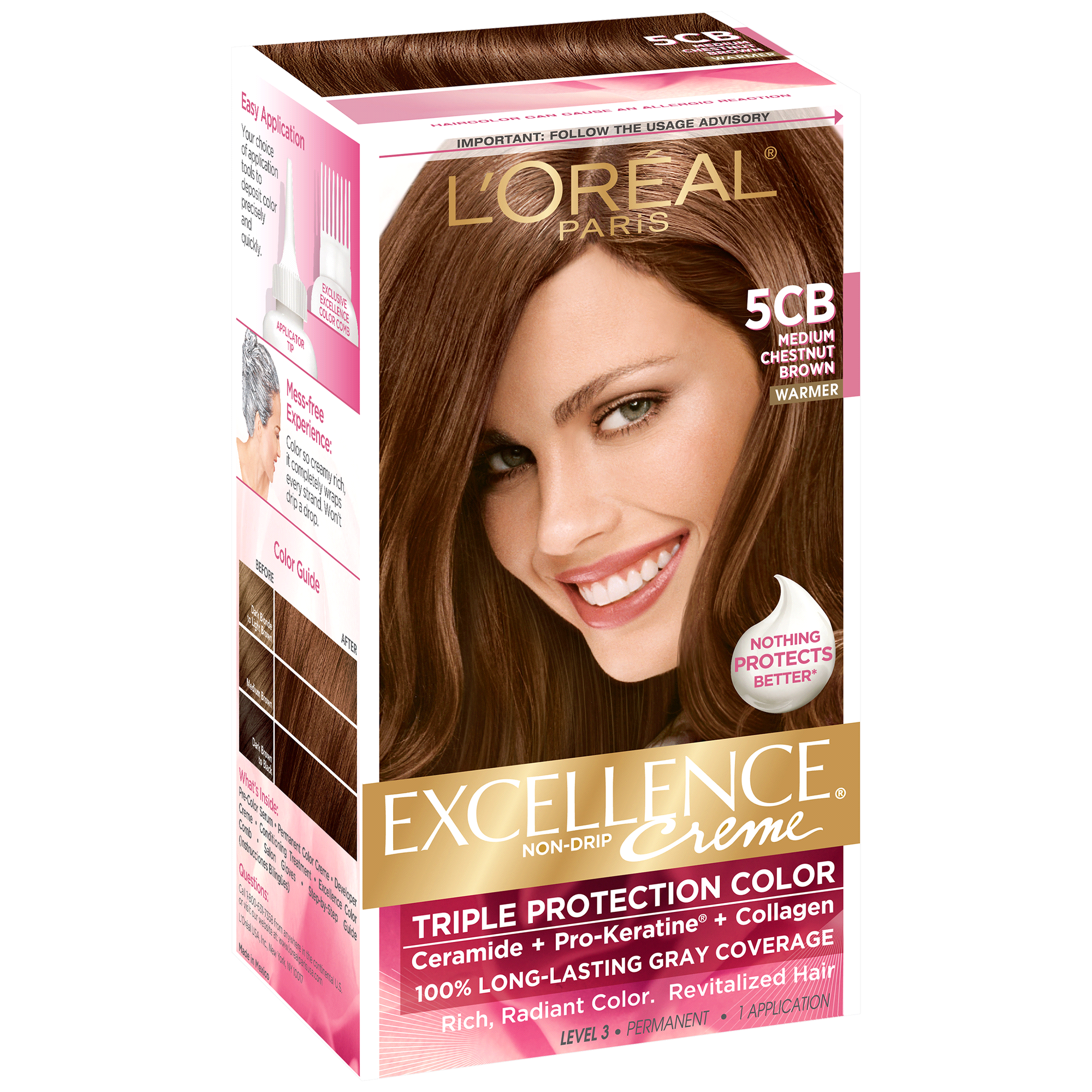 Loreal Paris Excellence Non Drip Crme Triple Protection Color 5cb