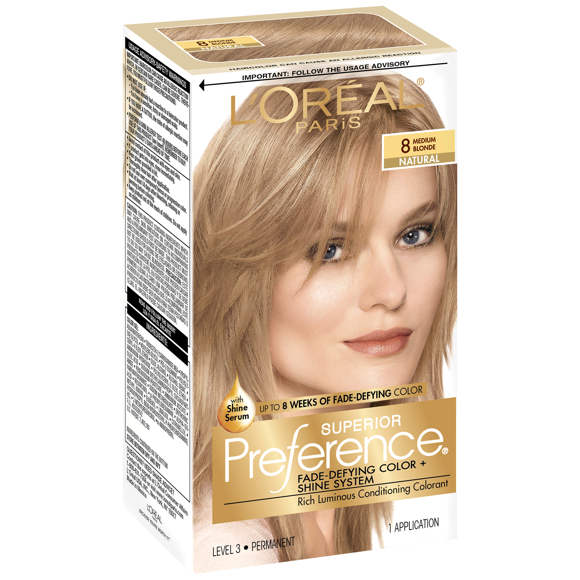 Loreal Paris Superior Preference Fade Defying Color Shine System 8