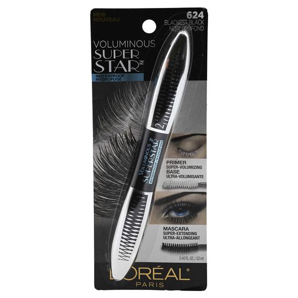 LOreal® Paris Voluminous Superstar Mascara 624 Blackest Black WTP 0.4 oz