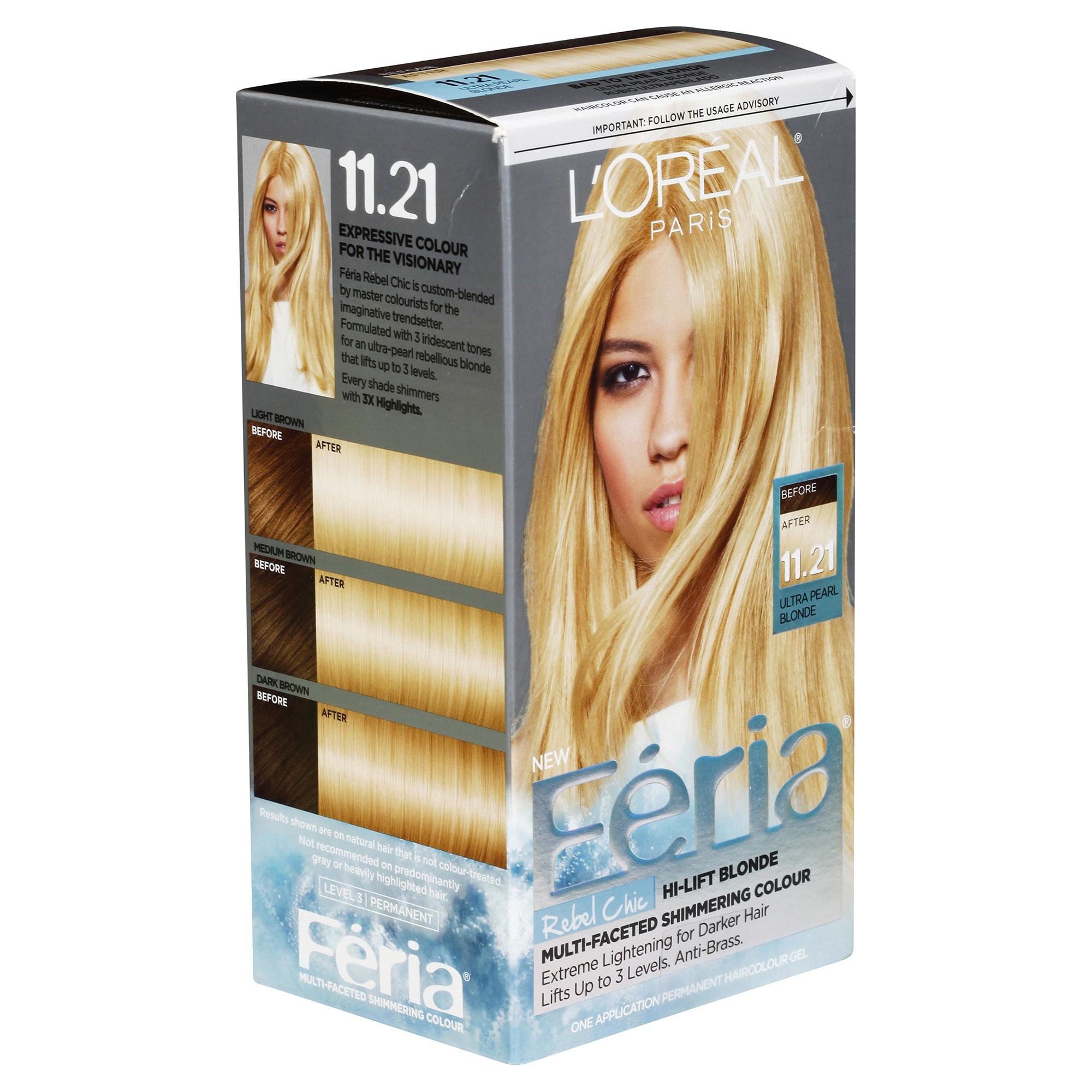 Loreal Feria Hi Lift Blonde Multi Faceted Shimmering Colour 1121