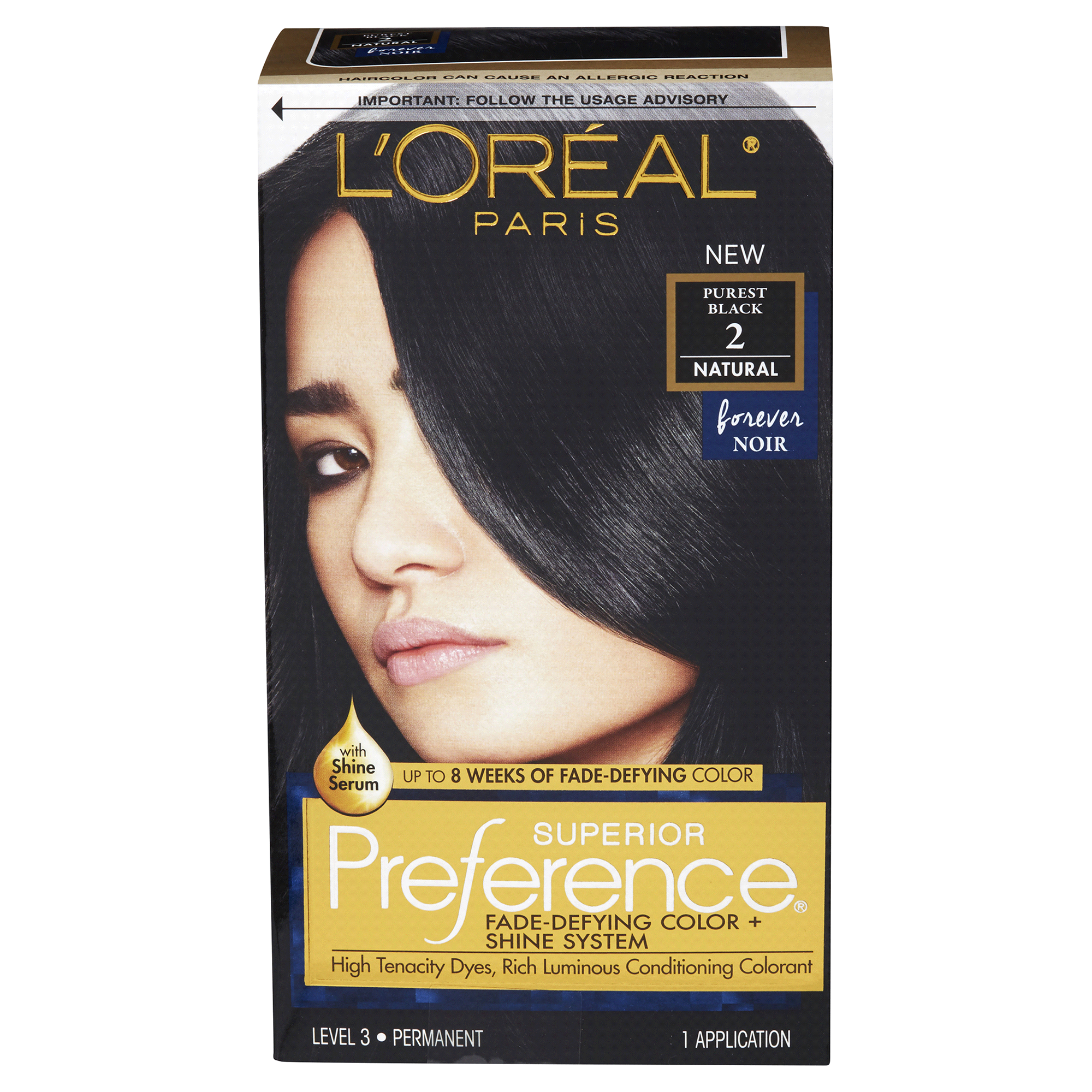 Loreal Paris Preference Permanent Hair Color Purest Black 2 Natural