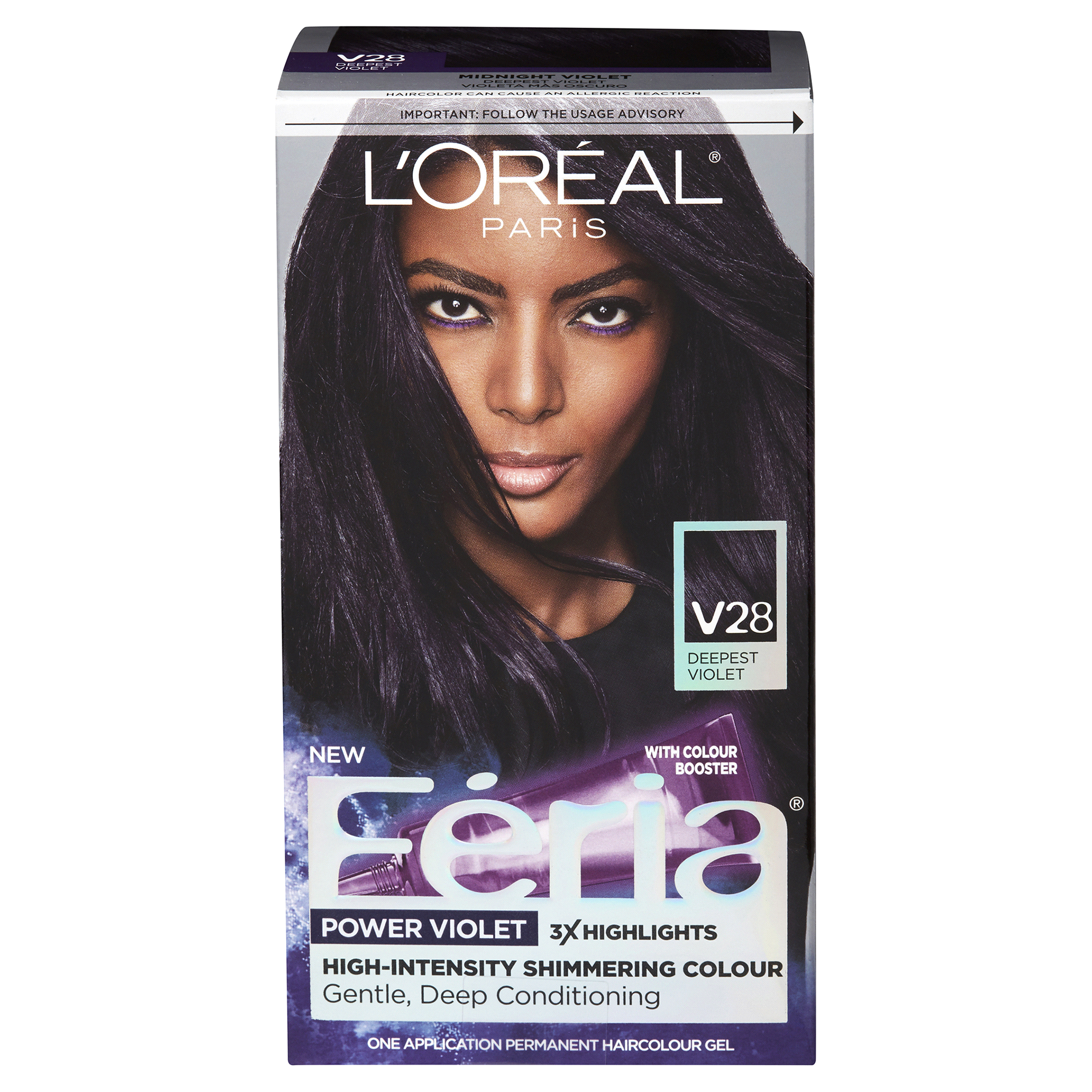 Loreal Paris Feria Hair Color Gel Deepest Violet V28 Meijer
