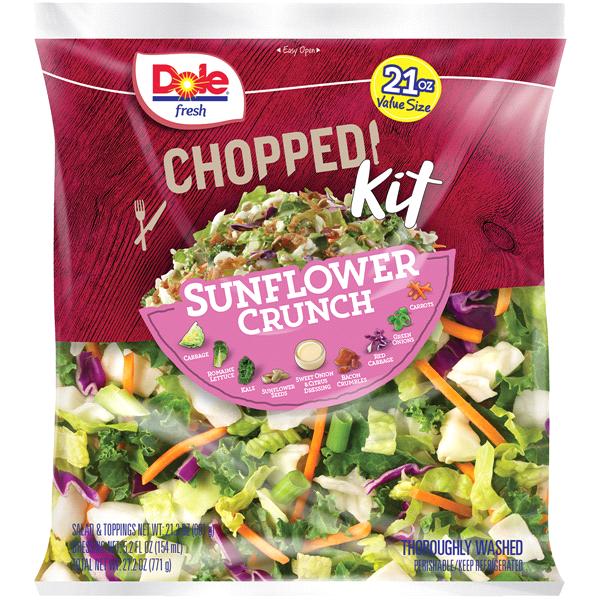 Dole Chopped Sunflower Crunch Salad Kit Family Size Bag 27 2 Oz Meijer
