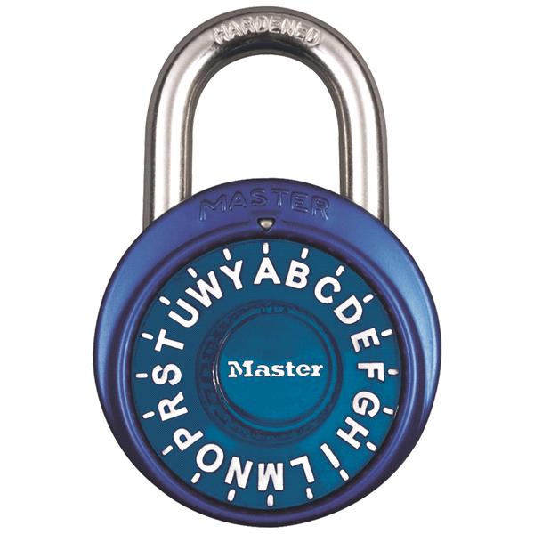 master lock standard dial letter combination padlock 1530dwd 1 78 inch wide