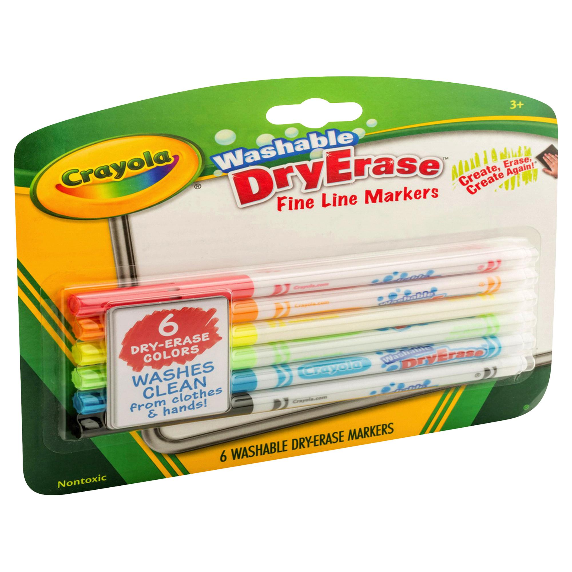 crayola dry erase fine line washable markers 6ct meijer com