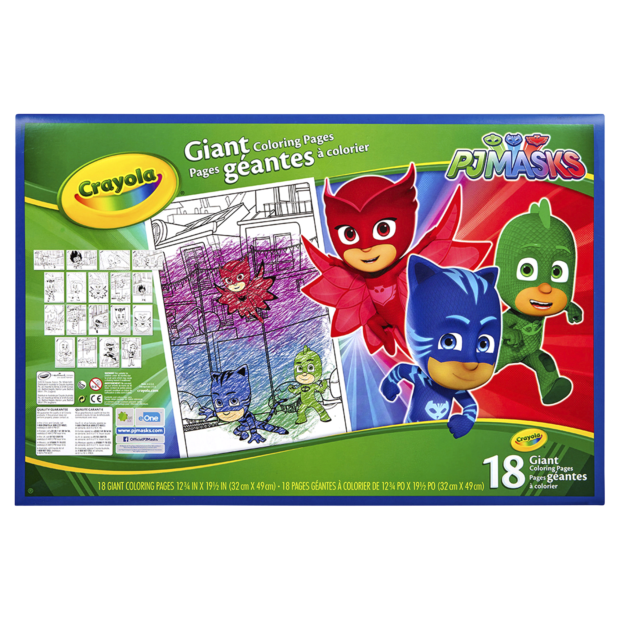Crayola PJ Masks Giant Coloring Pages | Meijer.com