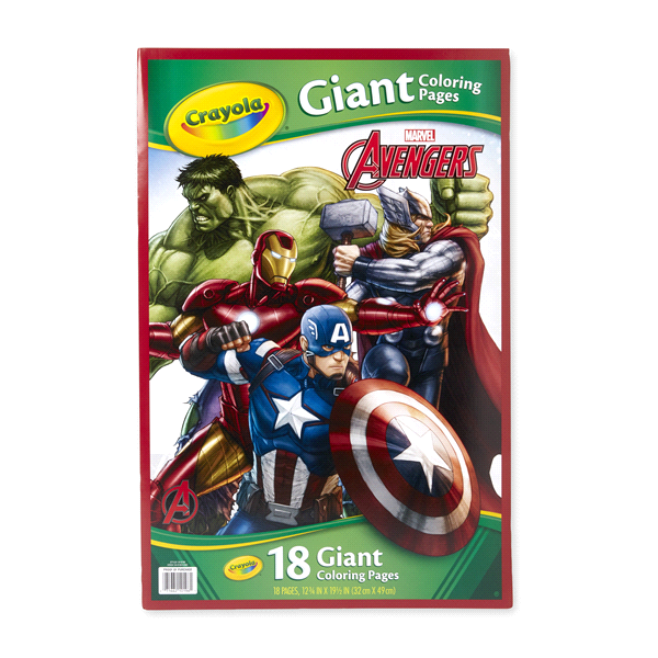 Crayola Giant Coloring Pages Avengers Meijer Com
