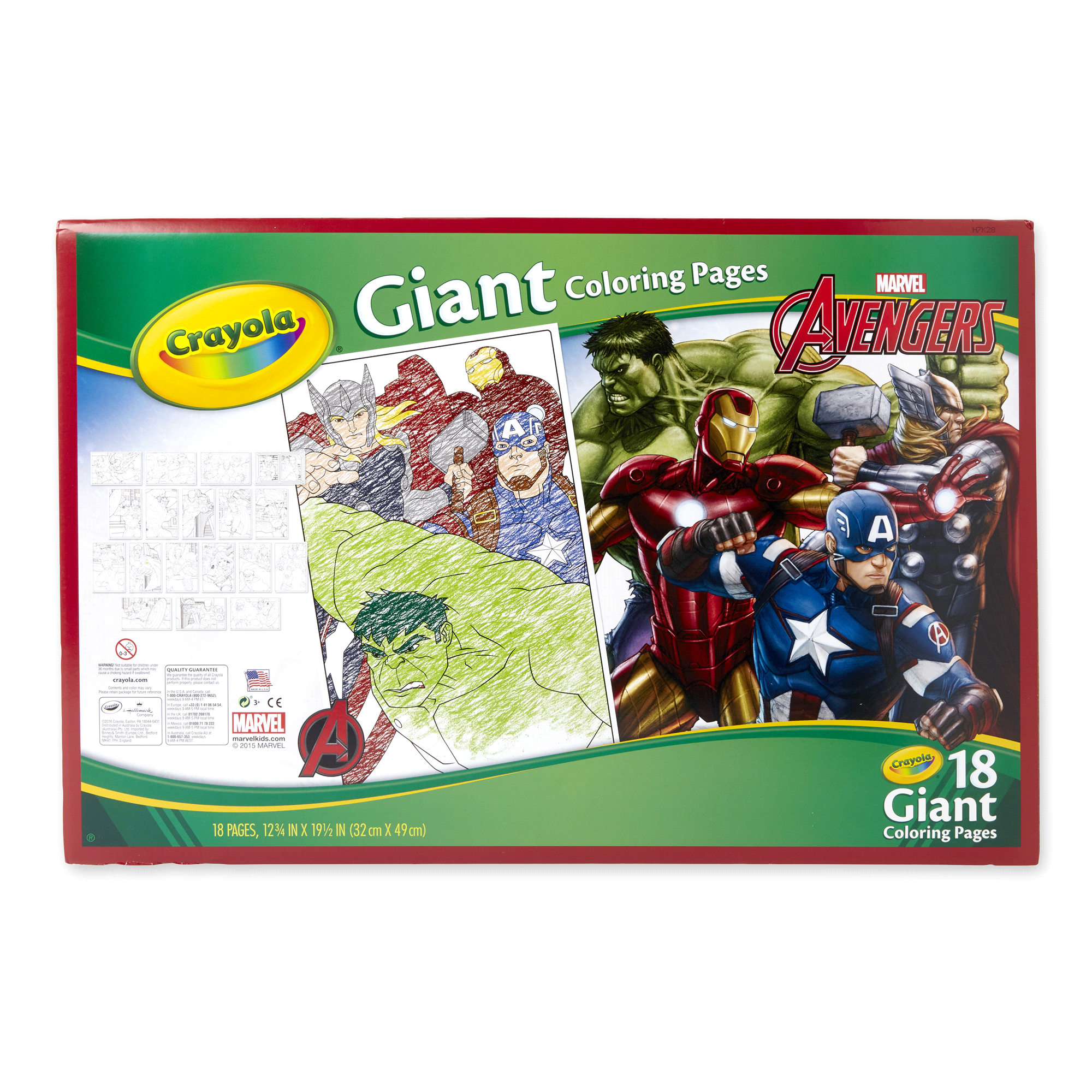 Crayola Giant Coloring Pages Avengers | Meijer.com