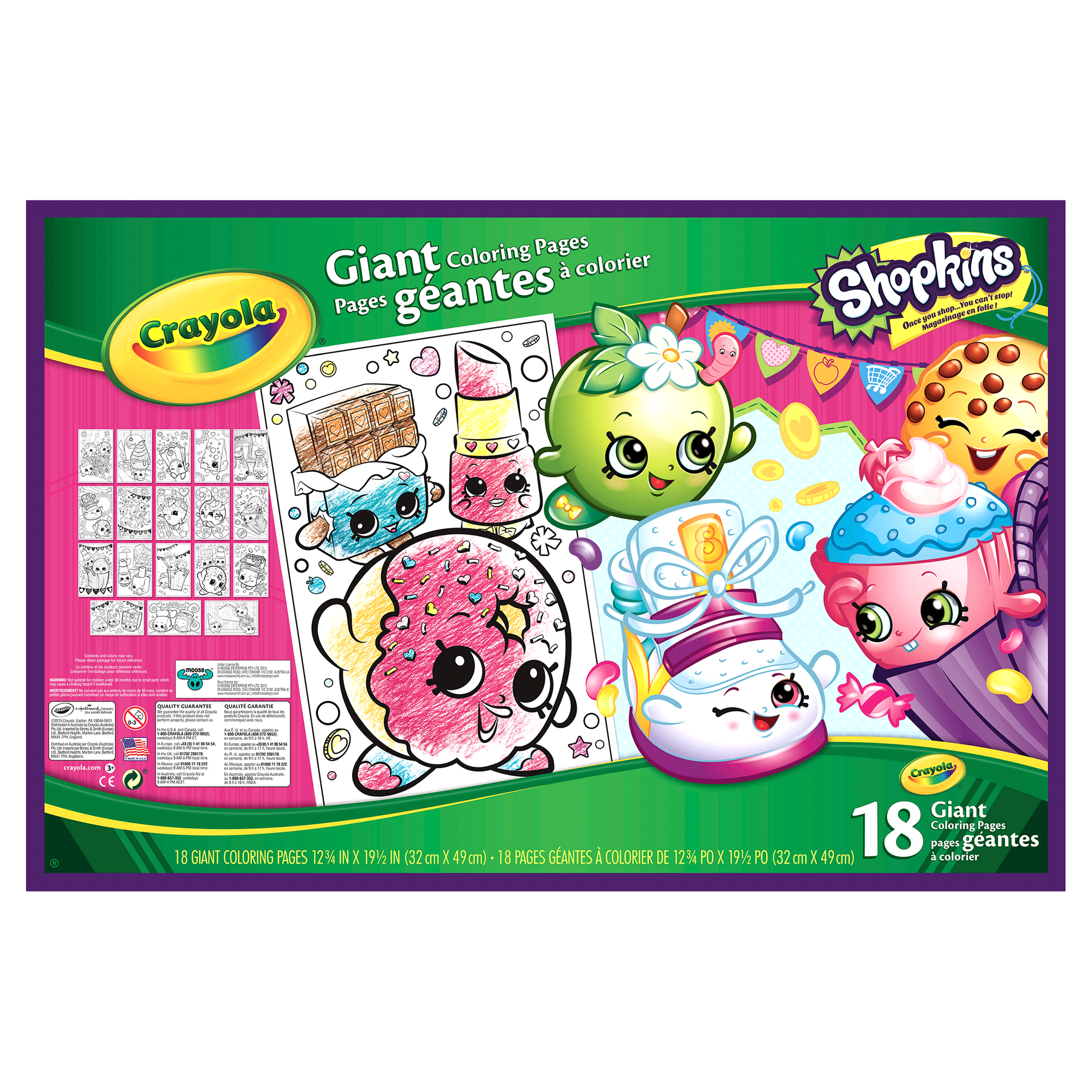 Shopkins Crayola Giant Coloring Pages