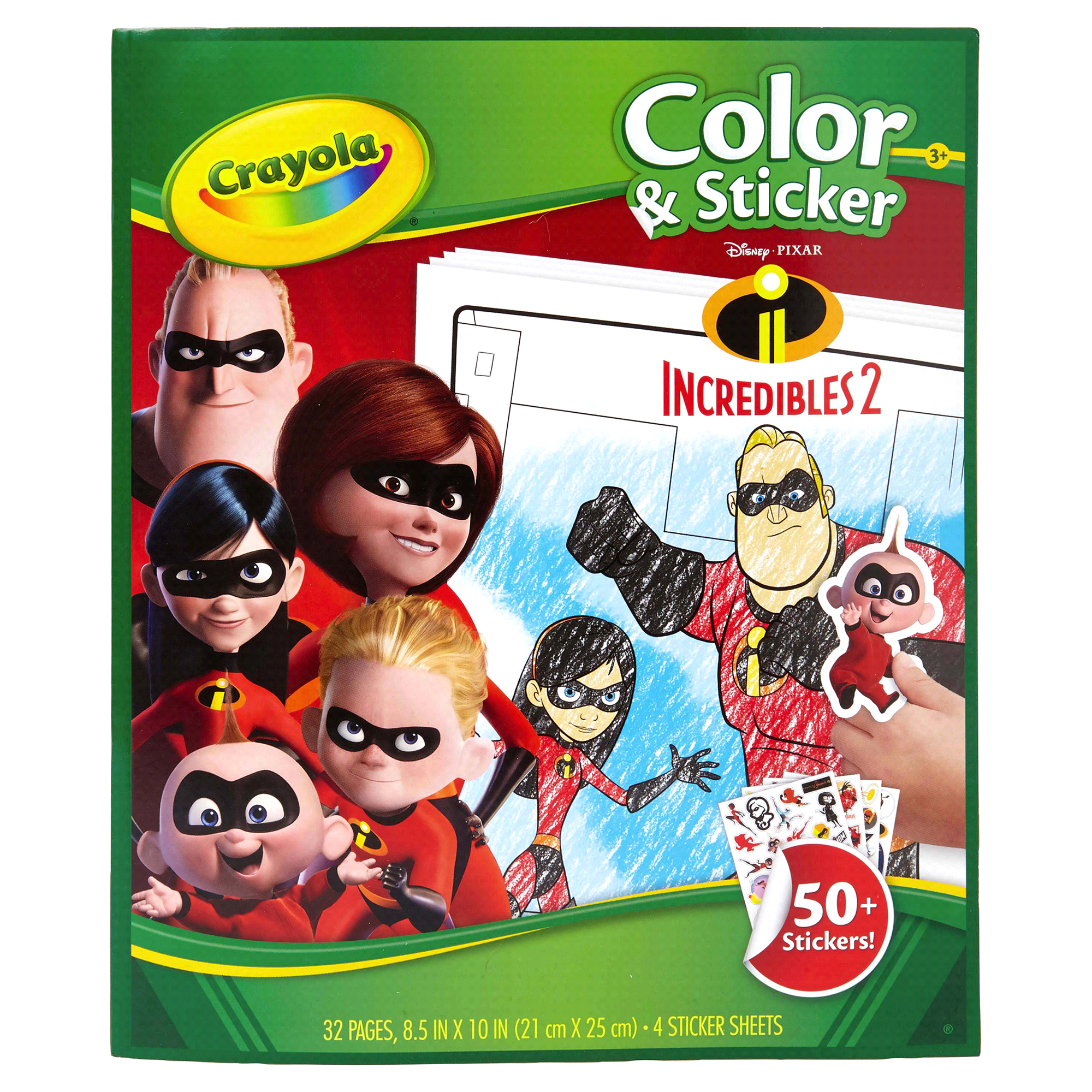 Crayola Incredibles 2 Color & Sticker Book   Meijer.com