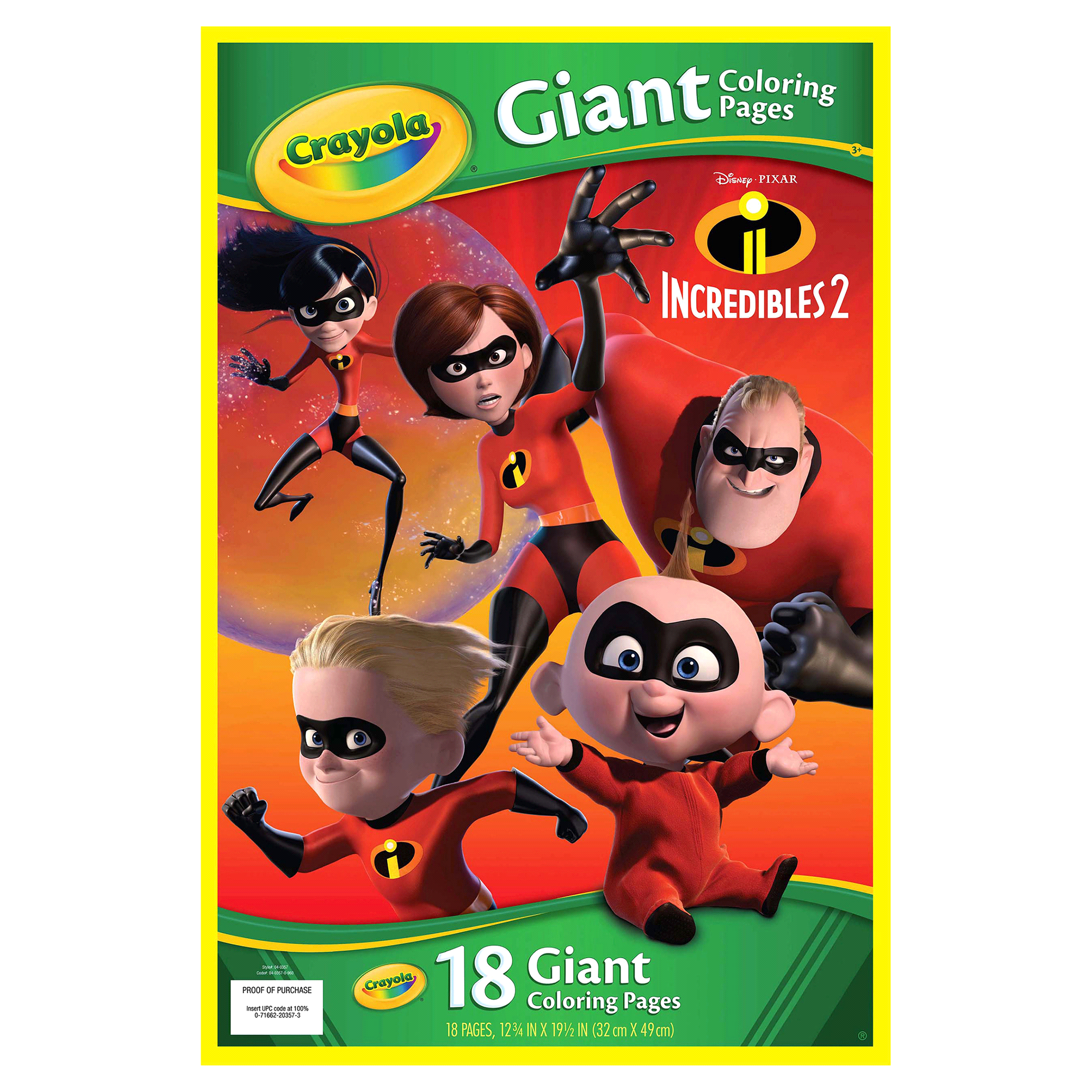 Crayola Incredibles 2 Giant Coloring Pages | Meijer.com
