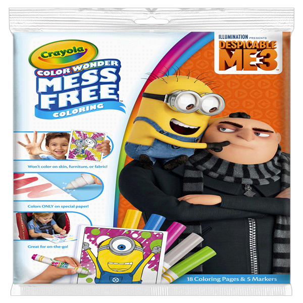 Crayola Color Wonder Despicable Me Coloring Pad and Markers | Meijer.com