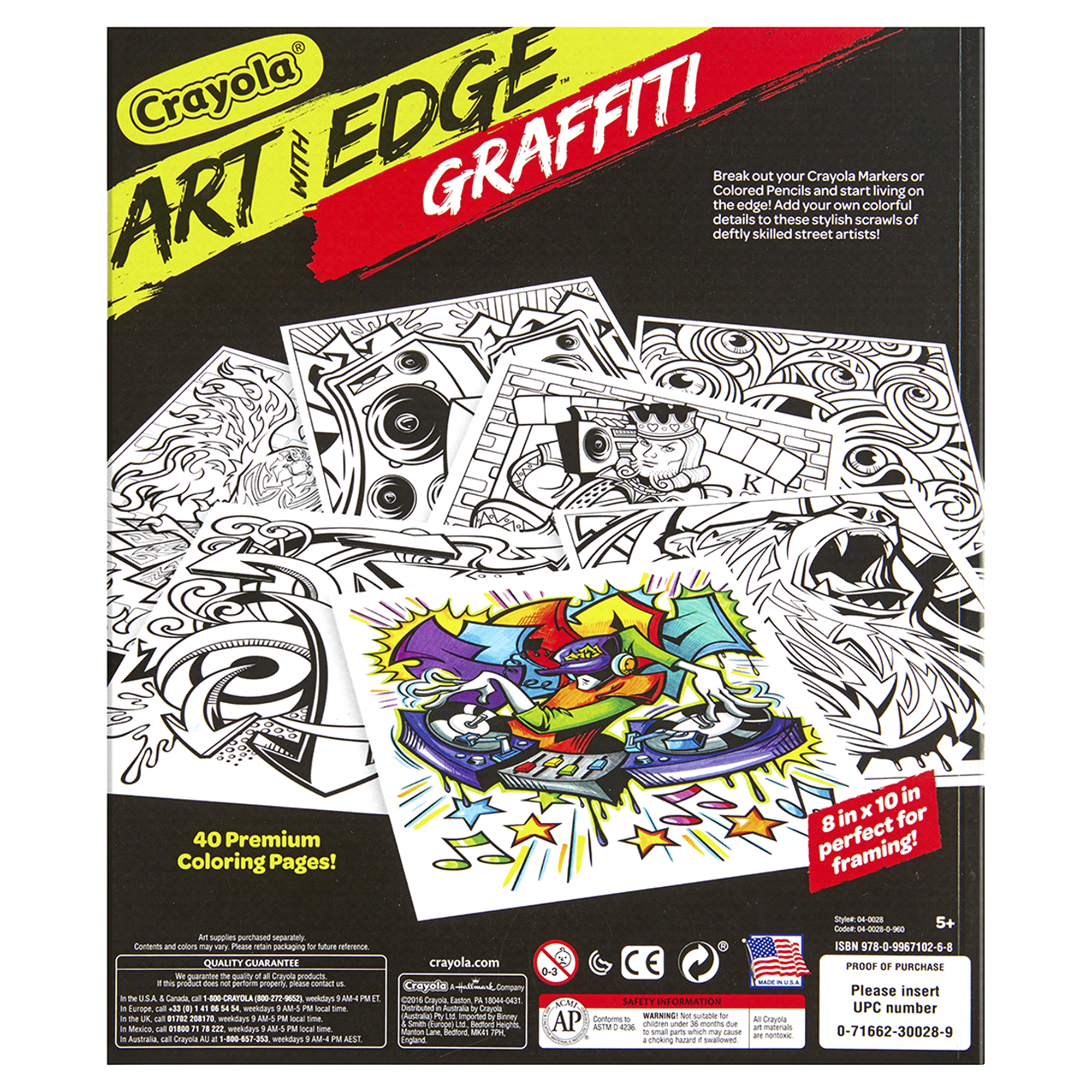 Crayola Art With Edge Graffiti Coloring Pages Meijer Com