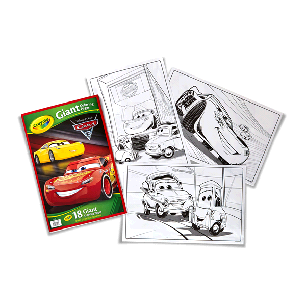 crayola giant coloring pages cars 3 meijer com