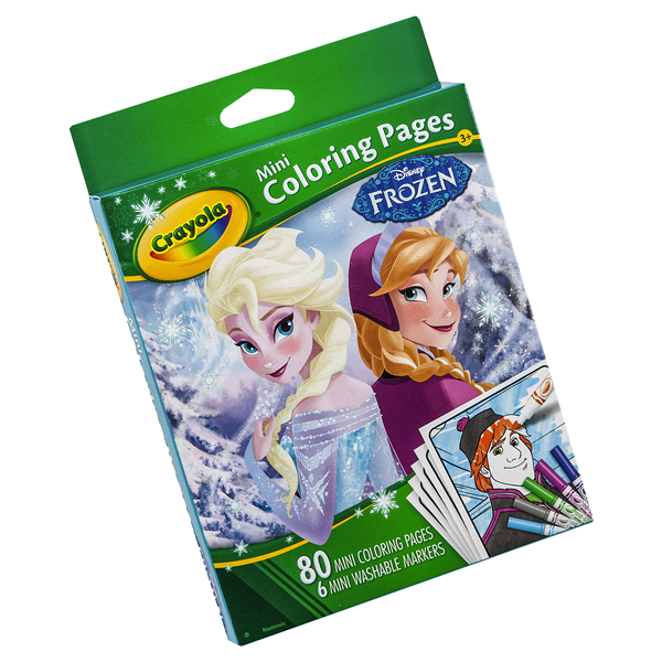 crayola frozen mini coloring pages and washable markers meijer com