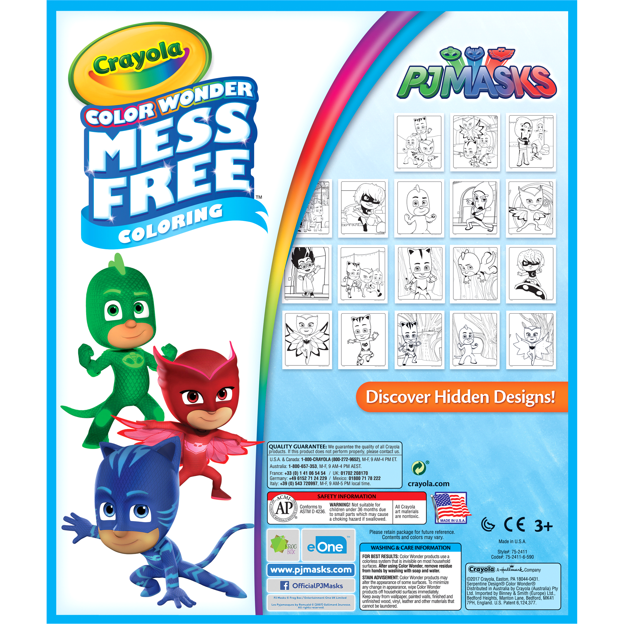 Crayola Color Wonder PJ Masks 18pg Coloring Book with Markers ...