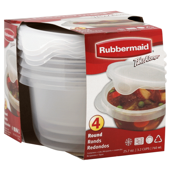 Rubbermaid TakeAlongs Round Food Storage Container Set 32 Cup 4