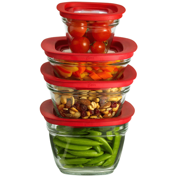 Rubbermaid 8 Piece Glass Food Storage Container Value Pack Meijercom