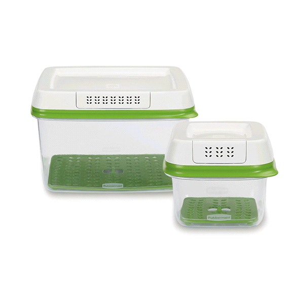 Rubbermaid FreshWorks Produce Saver Food Storage Containers Set Of 2