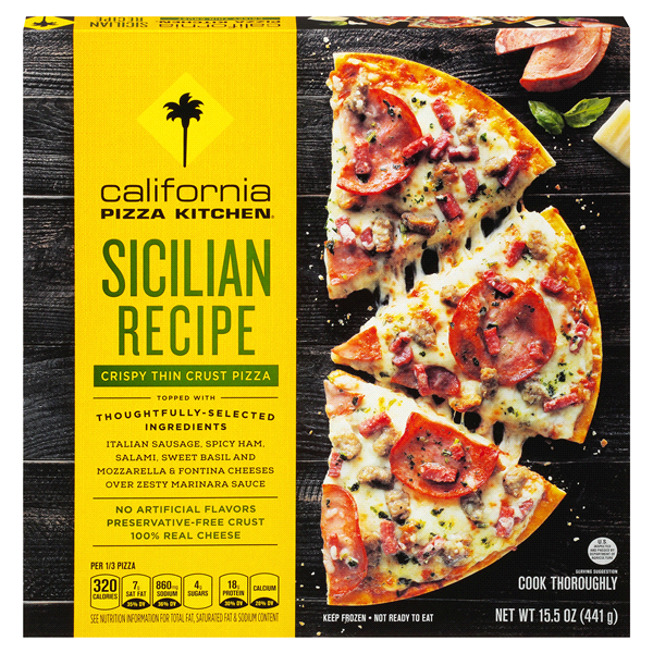 CALIFORNIA PIZZA KITCHEN Crispy Thin Crust Sicilian Recipe Pizza ...
