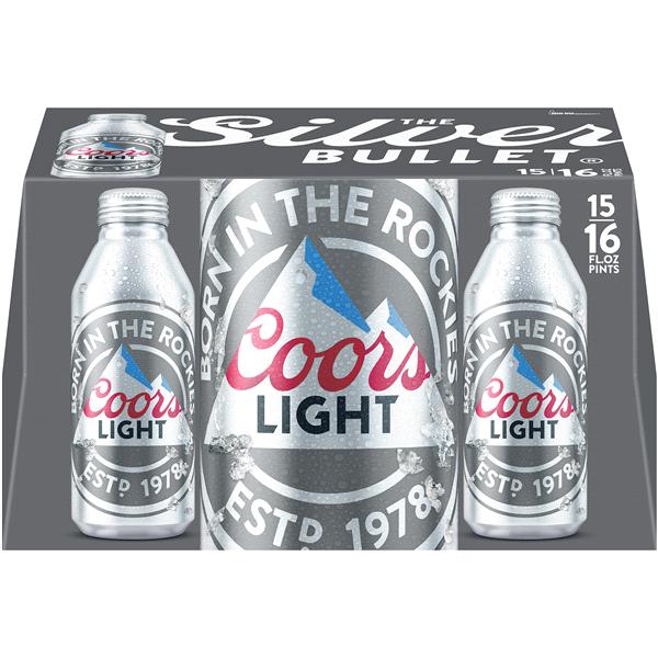 0bafe42affa Coors Light Lager Beer 15 Pack 16 fl. oz. Aluminum Pint Bottles 4.2 ...
