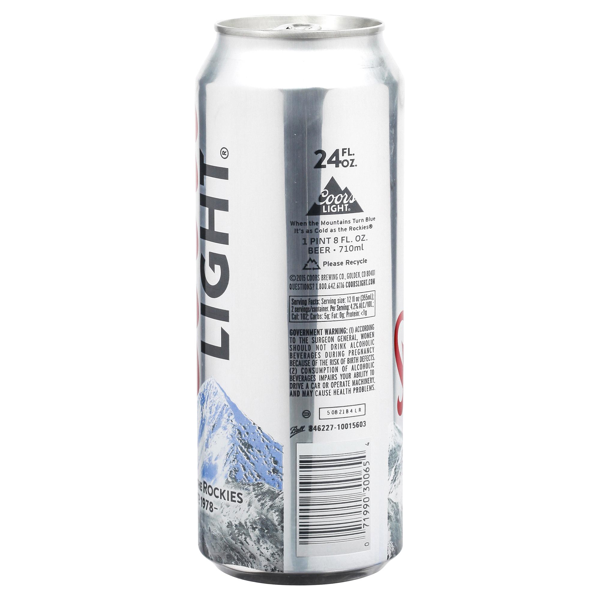Coors Light Lager Beer 24 Fl. Oz. Single Can 4.2% ABV | Meijer.com