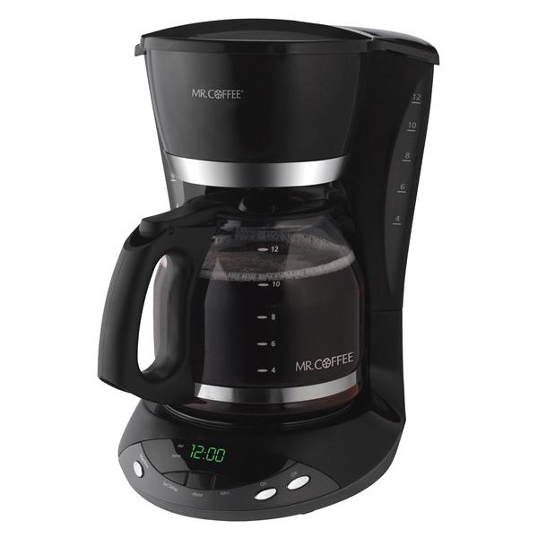 Mr Coffee 12 Cup Programmable Coffeemaker Black Meijercom