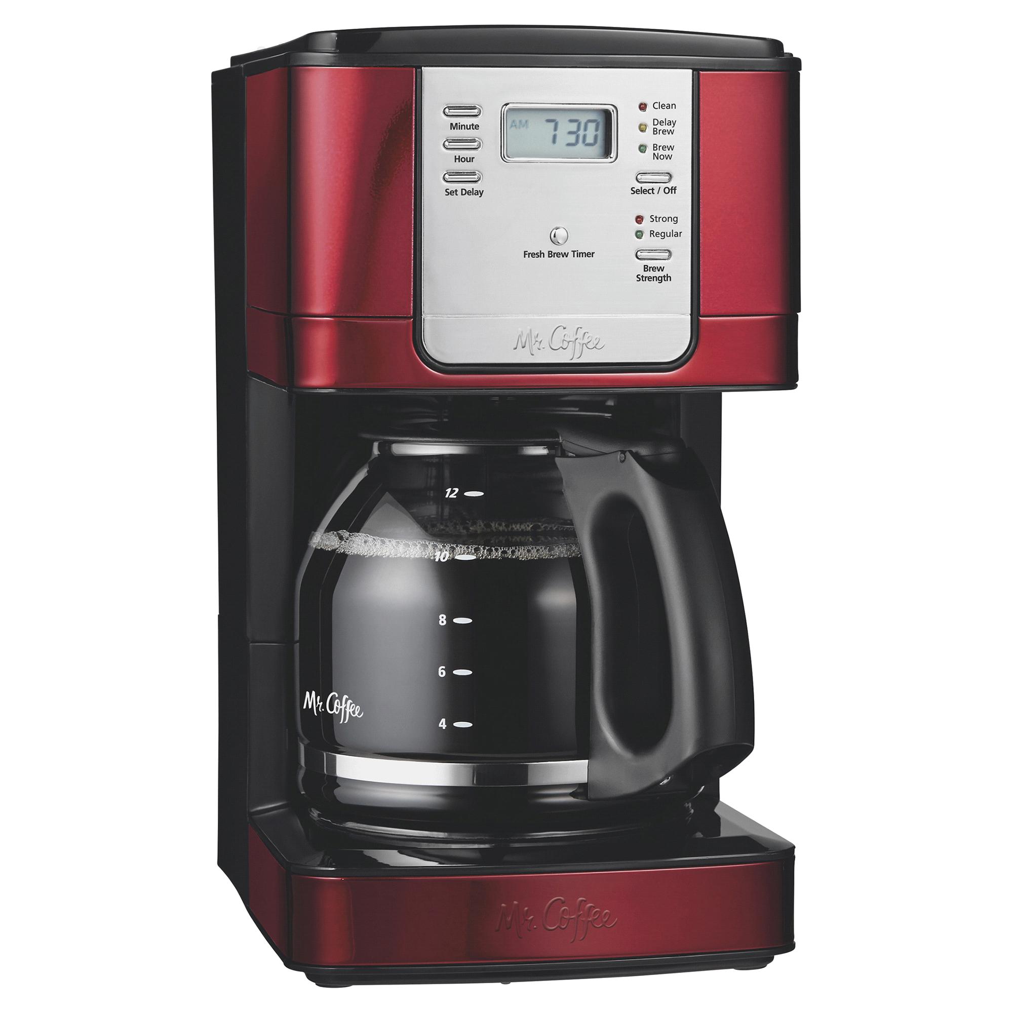 Mr Coffee 12 Cup Coffeemaker Metallic Red Meijercom