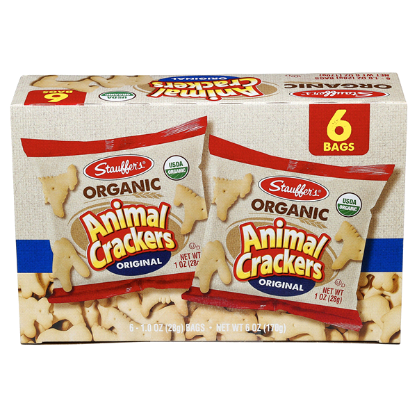 stauffers organic animal crackers 6 oz 6 1 oz bags