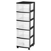 Merveilleux Sterilite 5 Drawer Cart Black | Meijer.com