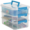 Meijer.com deals on Sterilite Stack & Carry 3 Layer Handle Box & Tray
