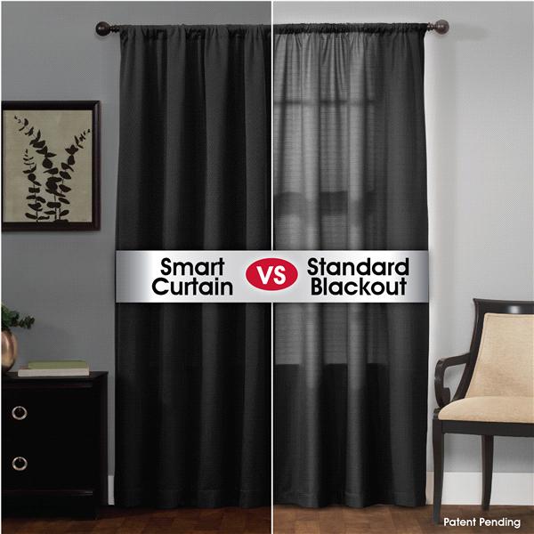 Smart Curtains Jamie Certified 100 Percent Ultimate Light Blocker