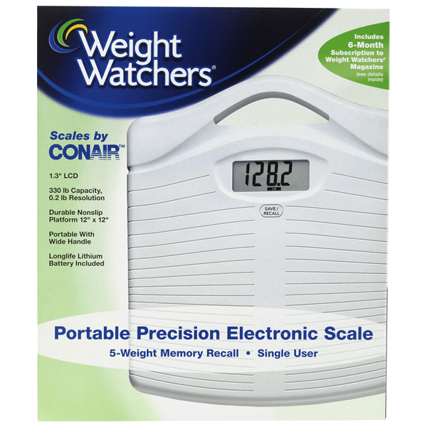 weight watchers by conair precision electronic scale