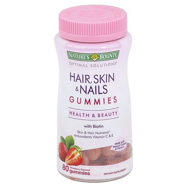 Natures Bounty® Optimal Solutions® Hair Skin & Nails Gummies 80 ct ...