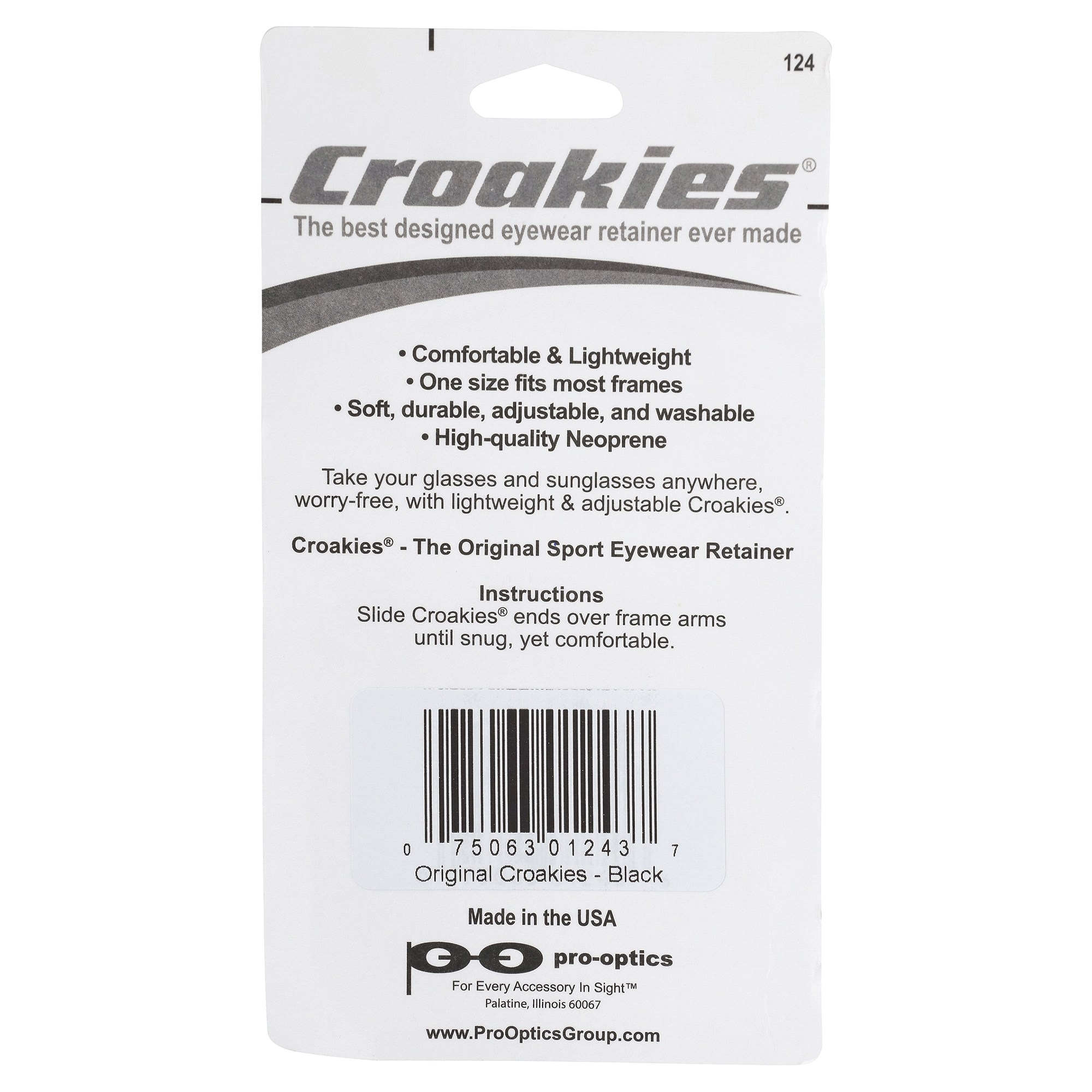 Croakies Original Sport Eyewear Retainer | Meijer.com