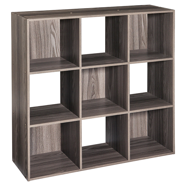 Genial CLOSETMAID 9 CUBE NATURAL GRAY
