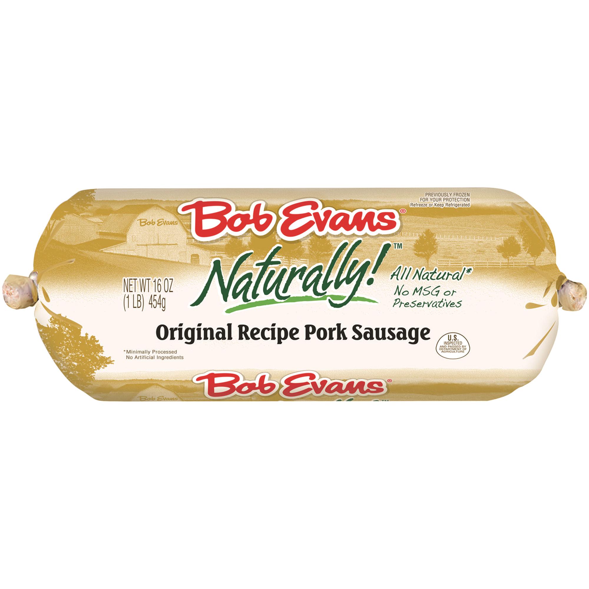 Bob Evans Naturally! Pork Sausage Roll Original Recipe 16 oz ...