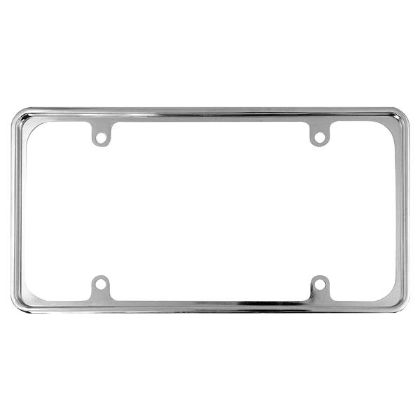 Custom Frames Chrome Metal Recessed License Plate Frame | Meijer.com