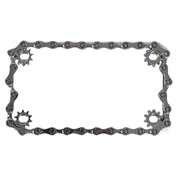 Custom Frames Chrome Metal Chain Motorcycle License Plate Frame ...