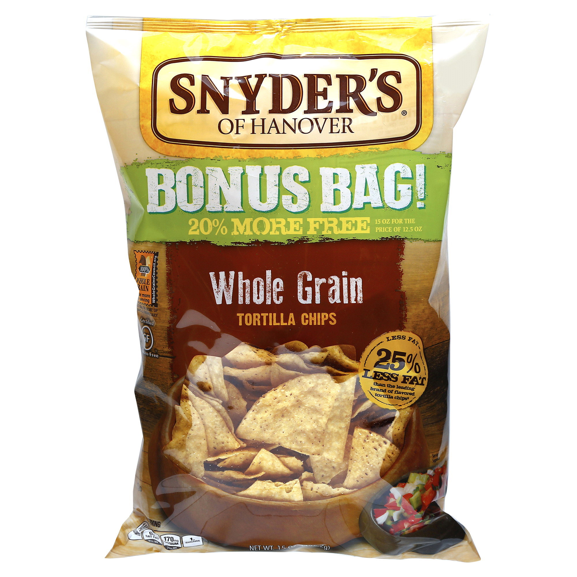 Snyders Tortilla Chips Whole Grain Reduced Fat 12.5 oz | Meijer.com