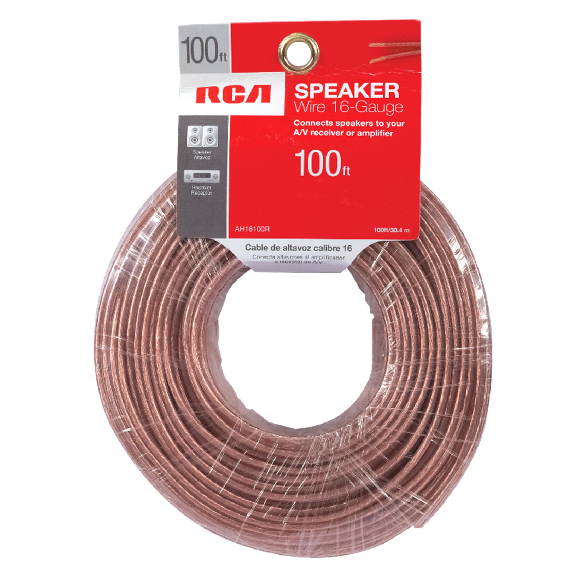 RCA 16 Gauge 100 Speaker Wire AH16100R   Meijer.com