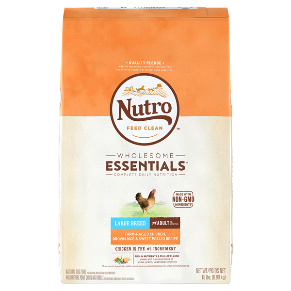 Nutro wholesome essentials farm raised chicken brown rice and sweet nutro wholesome essentials farm raised chicken brown rice and sweet potato recipe large breed adult forumfinder Image collections