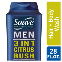 Meijer.com deals on Suave Men Citrus Rush 3-in-1 Shampoo Conditioner Body Wash, 28 oz