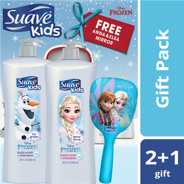 6c522dc557 Suave Kids Disney Frozen Shampoo and Conditioner Gift Pack with Bonus  Mirror 28 oz 2 count