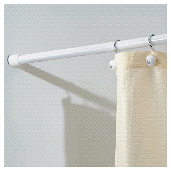 InterDesign Cameo Shower Curtain Tension Rod White 43 75 Inch