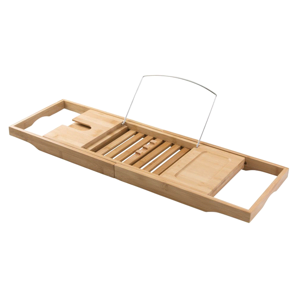 InterDesign Formbu Bathtub Caddy with Reading Tray Natural | Meijer.com