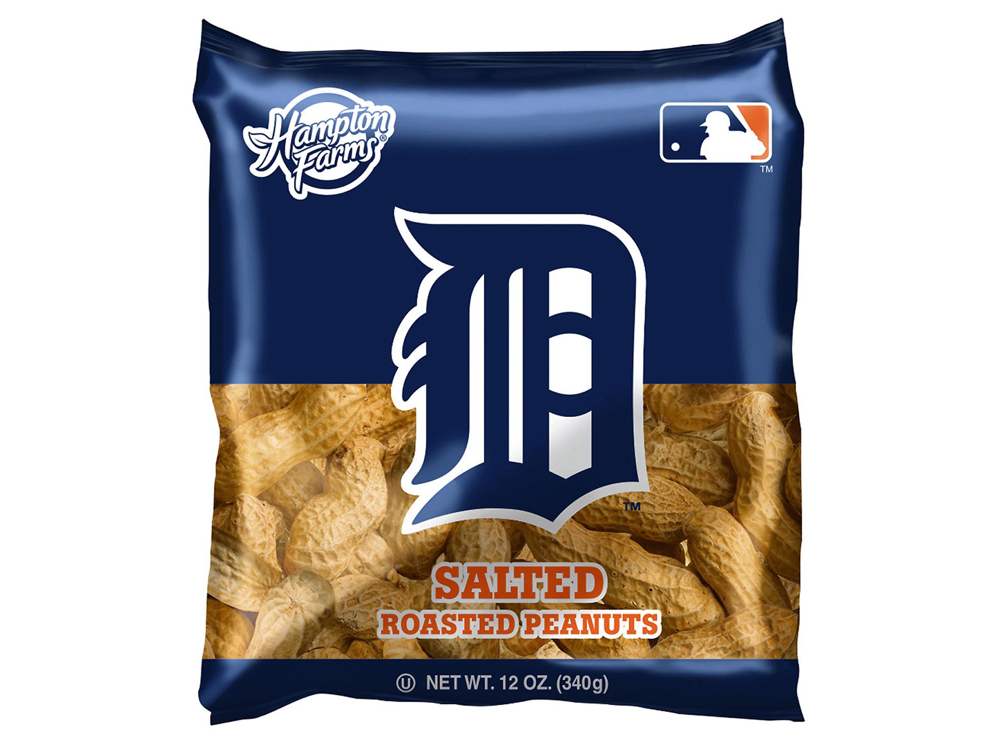Hampton Farms Salted Peanuts (In The Shell) MLB Detroit Tigers 12 oz ...