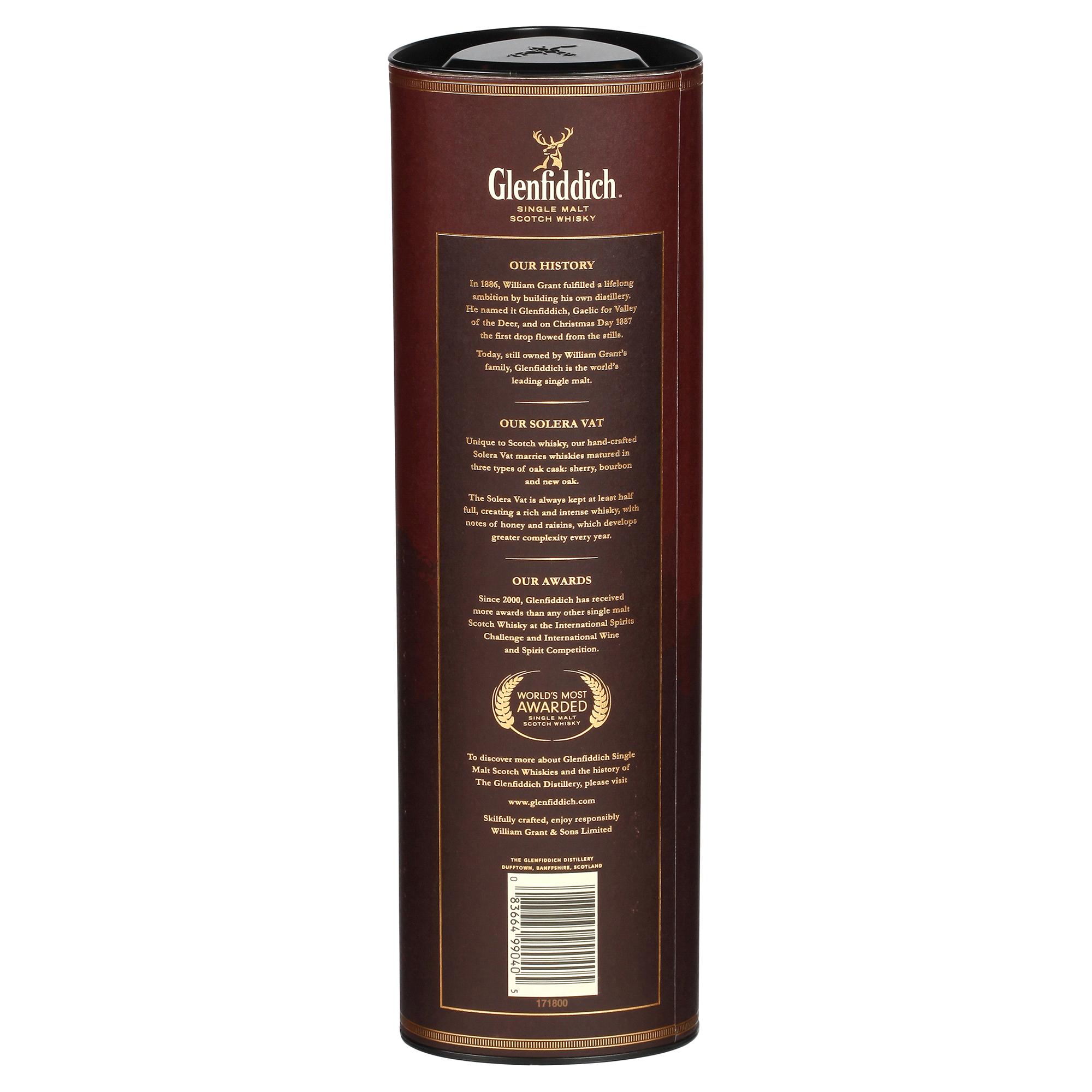 Glenfiddich Solera Single Malt Scotch Whisky 750 mL   Meijer.com