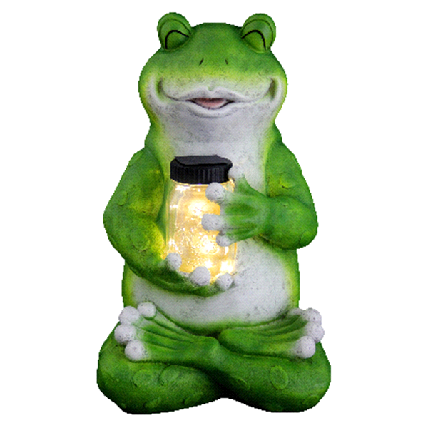 19 Frog With Firefly Jar